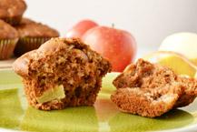piernikowo - miodowe muffiny z jabłkami