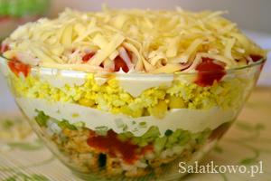 Salatka Gyros Warstwowa Przepis